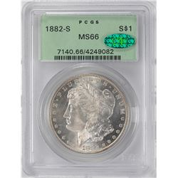 1882-S $1 Morgan Silver Dollar Coin PCGS MS66 OGH CAC