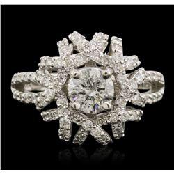 14KT White Gold 1.22 ctw Diamond Ring