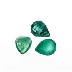 2.65 cts. Pear Cut Natural Emerald Parcel