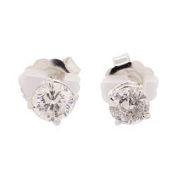 2.08 ctw Diamond Earrings - 14KT White Gold