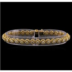 2.74 ctw Diamond Bracelet - 14KT Yellow Gold