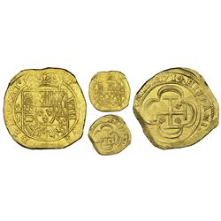"Mexico City, Mexico, cob 8 escudos, 1714J, ""GRAT"" variety (date on reverse), NGC MS 63, ex-1715 Flee"