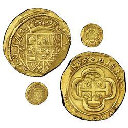 Mexico City, Mexico, cob 8 escudos, 1714J, NGC MS 60, ex-1715 Fleet (designated on special label), e