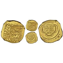 Mexico City, Mexico, cob 4 escudos, 1715J, NGC MS 62, ex-1715 Fleet (designated on label), Practical