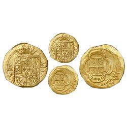 Mexico City, Mexico, cob 4 escudos, Philip V, assayer J (style of 1714), NGC MS 65, ex-1715 Fleet (d