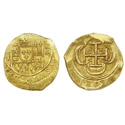 Mexico City, Mexico, cob 2 escudos, Philip V, assayer J (style of 1714), ex-1715 Fleet.