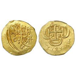 Mexico City, Mexico, cob 1 escudo, Philip V, 171(4)J, NGC MS 65, ex-1715 Fleet (designated on label)