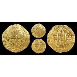 Lima, Peru, cob 8 escudos, 1708H, NGC MS 63, ex-1715 Fleet (designated on label).