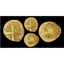 Lima, Peru, cob 4 escudos, 1750R, 8E-die cross side, NGC AU 58, ex-Luz (designated on label).