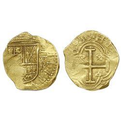 Bogota, Colombia, cob 2 escudos, 1659R.