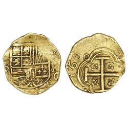 Bogota, Colombia, cob 2 escudos, 1669R.