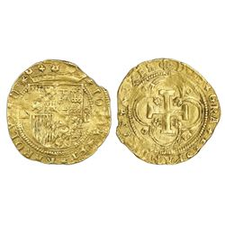 Segovia, Spain, 1 escudo, Charles-Joanna, assayer oD to right, mintmark aqueduct to left and in one