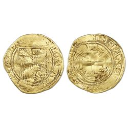 Seville, Spain, 1 escudo, Charles-Joanna, assayer * to left, mintmark S to right.