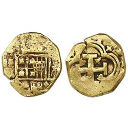 Seville, Spain, cob 4 escudos, Philip IV, assayer not visible.
