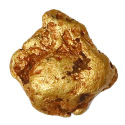 Small gold nugget, 4.09 grams, from the Arab/Indian trade, from an 1100s-1200s wreck off Mozambique.