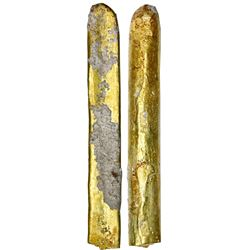 "Gold ""finger"" bar #36, 640 grams, fineness XV. (15-1/4K), ex-""Golden Fleece"" (ca. 1550)."
