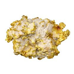 Natural gold-in-quartz specimen, 57 grams, from the Sixteen to One Mine in Alleghany, California.