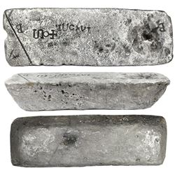 Large silver ingot #414 from Oruro, 81 lb 9.76 oz troy, Class Factor 0.9, with markings of manifest