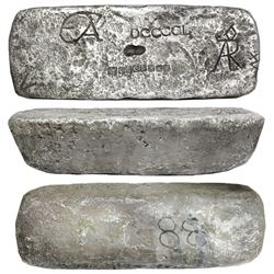 Large silver ingot #88 from Potosi, 80 lb 11.52 oz troy, Class Factor 0.8, with markings of manifest
