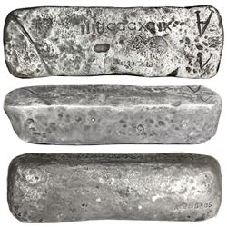 Large silver ingot #295 from Potosi, 80 lb troy, Class Factor 0.8, with markings of manifest IIIUCCC
