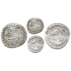 Lima, Peru, cob 2 reales, Philip II, assayer X to right, Grade 1, very rare, ex-Atocha Research Coll
