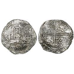 Potosi, Bolivia, cob 8 reales, Philip III, assayer Q, Grade 1, ex-Christie's.