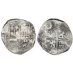 Potosi, Bolivia, cob 8 reales, (16)18T/PAL, Grade 1, rare.