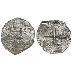 Potosi, Bolivia, cob 8 reales, 1618T/PAL(?), Grade 1.