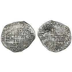 Potosi, Bolivia, cob 8 reales, 1619(T), Grade 1.