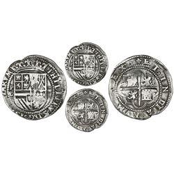 Potosi, Bolivia, cob 4 reales, Philip II, assayer L/L/B (2nd period), Grade 1, rare, ex-Atocha Resea