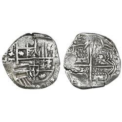 Potosi, Bolivia, cob 4 reales, 1620T, Grade 1.