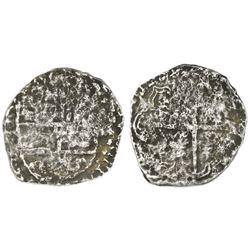 Potosi, Bolivia, cob 4 reales, Philip III, assayer not visible, quadrants of cross transposed, 10 po