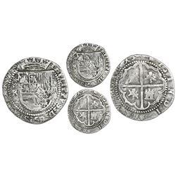Potosi, Bolivia, cob 2 reales, Philip II, assayer R (Rincon), Grade 1.