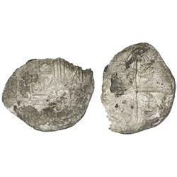 Potosi, Bolivia, cob 2 reales, Philip III, assayer Q, Grade 2.