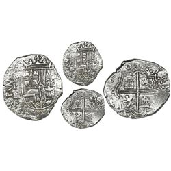 Potosi, Bolivia, cob 2 reales, 1618PAL (small), rare, Grade 1.