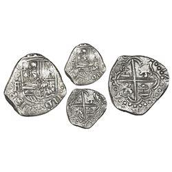 Potosi, Bolivia, cob 2 reales, (16)18PAL (large), Grade 1, rare.