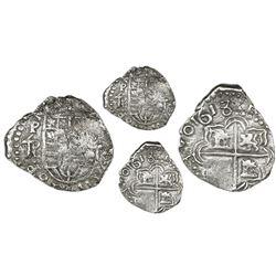 Potosi, Bolivia, cob 2 reales, 1618T/PAL (large), Grade 1, very rare.