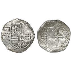 Potosi, Bolivia, cob 2 reales, 1619T, Grade 1.