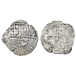 Potosi, Bolivia, cob 2 reales, 1620T, Grade 2.