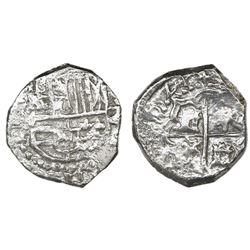 Potosi, Bolivia, cob 2 reales, 1621T, Grade 2.