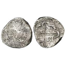 Potosi, Bolivia, cob 8 reales, 1639(T or TR).
