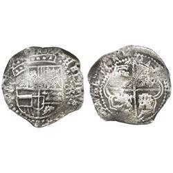 Potosi, Bolivia, cob 8 reales, (1649O), no countermark (rare).