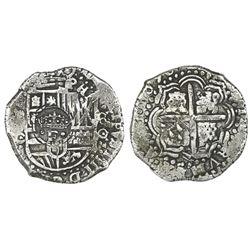 Potosi, Bolivia, cob 8 reales, 1650O, ex-von Schuckmann.