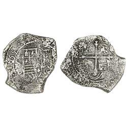 Mexico City, Mexico, cob 8 reales, 1655P.