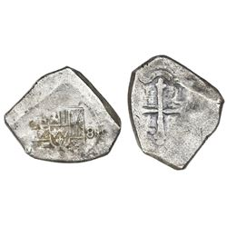 Mexico City, Mexico, cob 8 reales, Philip V, assayer not visible, full denomination 8.