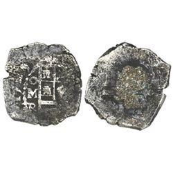Mexico City, Mexico, cob 4 reales, 1729R.