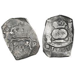 Guatemala, cob 8 reales, 1737J.