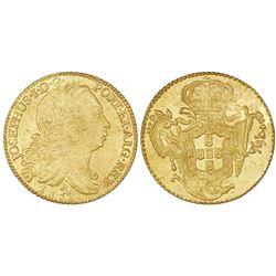 Brazil (Rio mint), gold 6400 reis, Jose I, 1753-R.