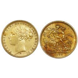 Melbourne, Australia (under Great Britain), gold sovereign, Victoria (young head), 1876-M.