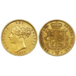 Great Britain (London, England), gold half sovereign, Victoria (young head), 1873, die 246.